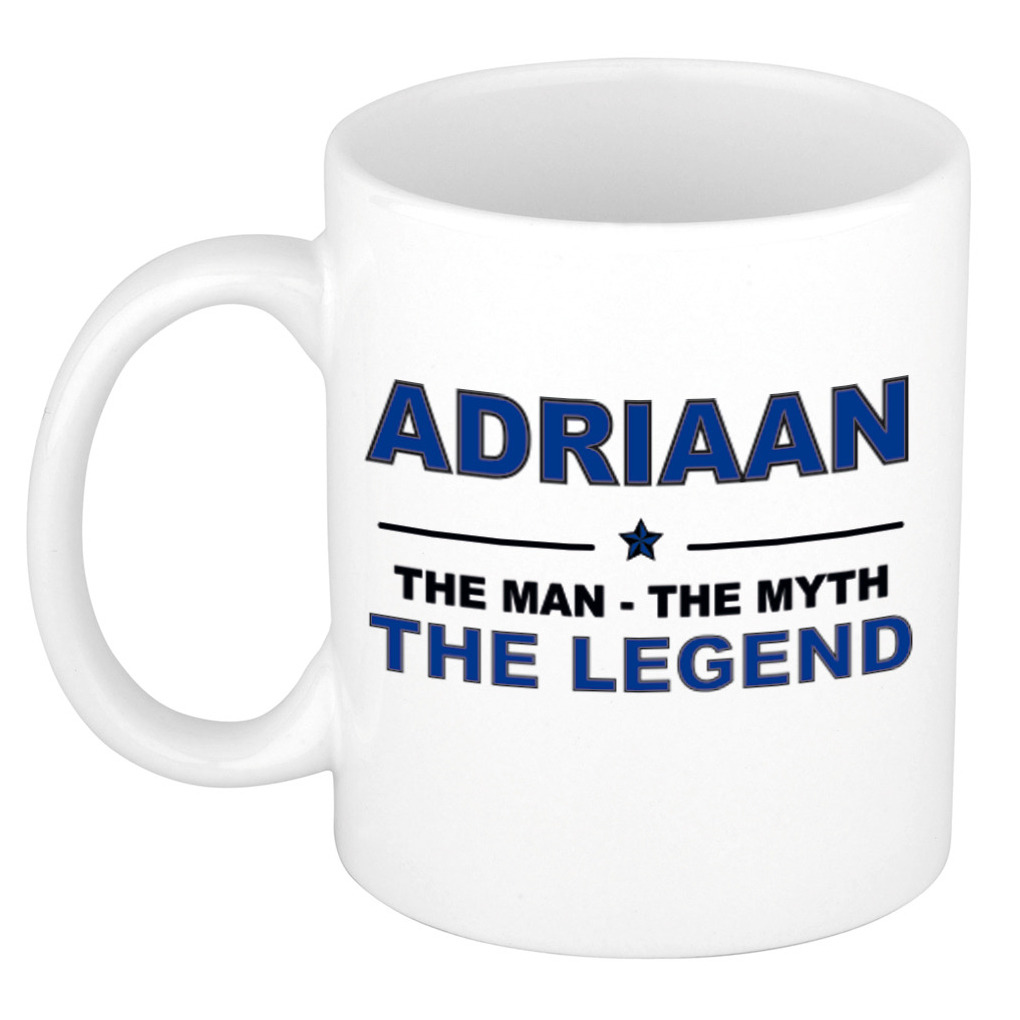 Adriaan The man, The myth the legend cadeau koffie mok - thee beker 300 ml
