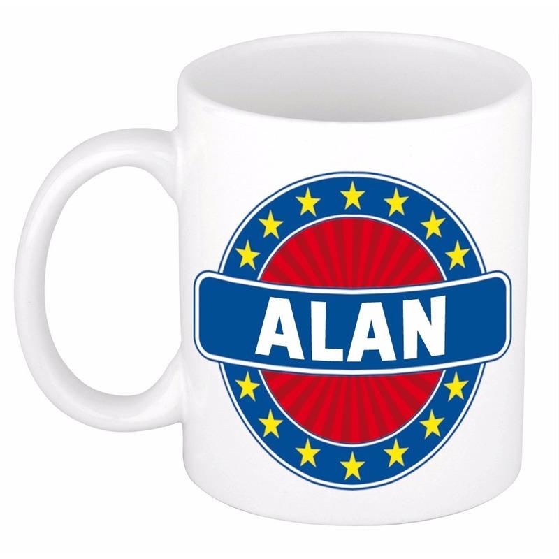 Alan naam koffie mok - beker 300 ml