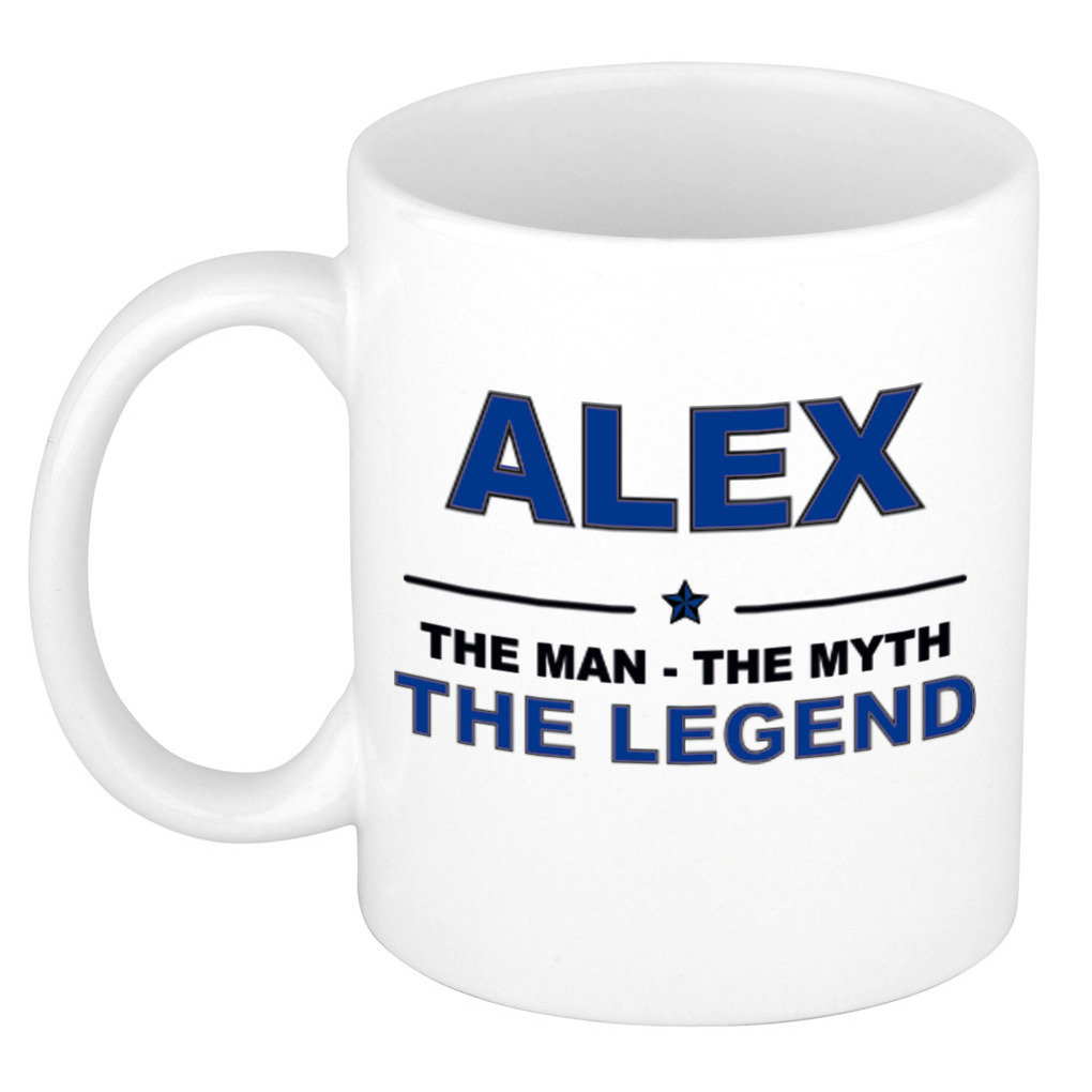 Alex The man, The myth the legend cadeau koffie mok - thee beker 300 ml
