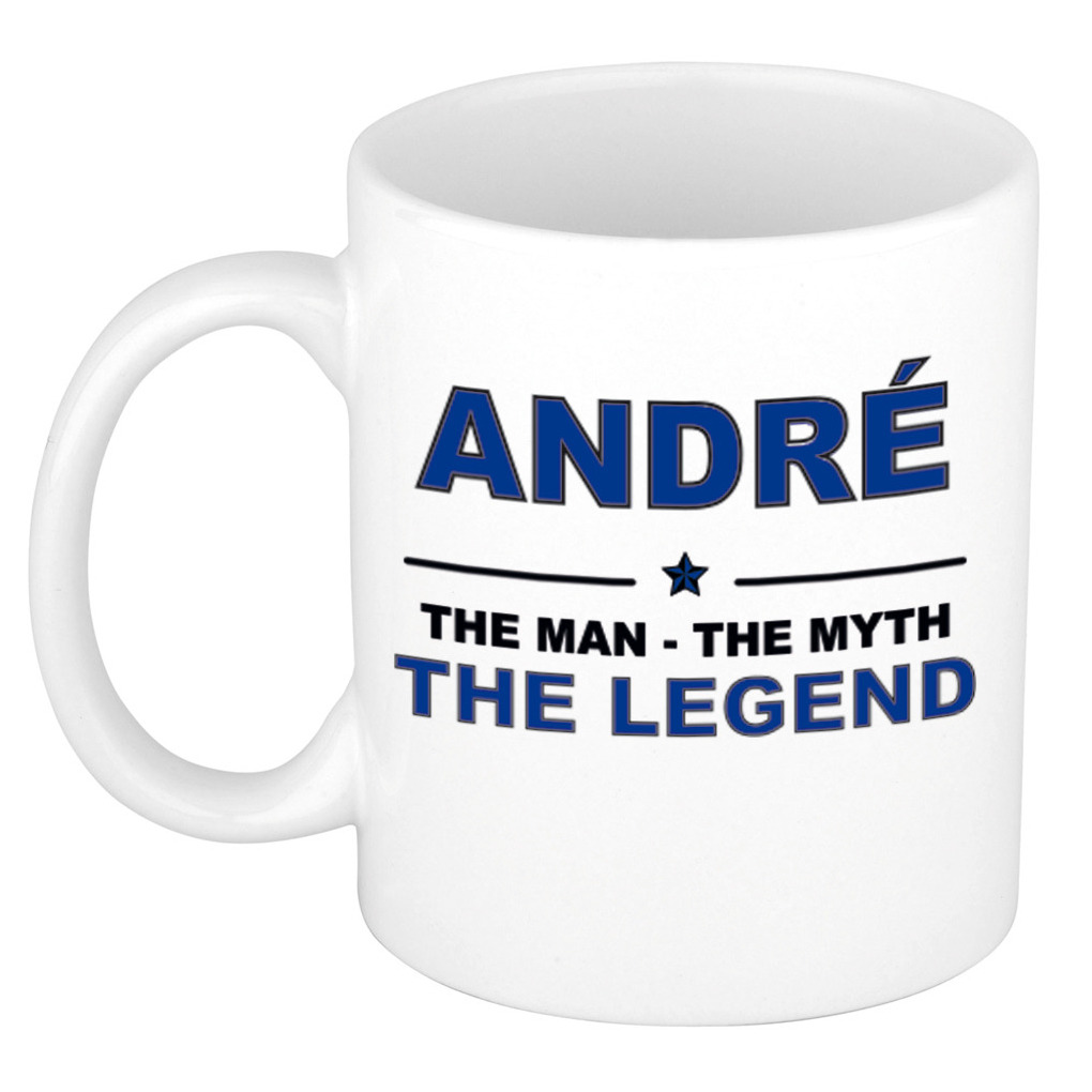 Andre The man, The myth the legend cadeau koffie mok - thee beker 300 ml