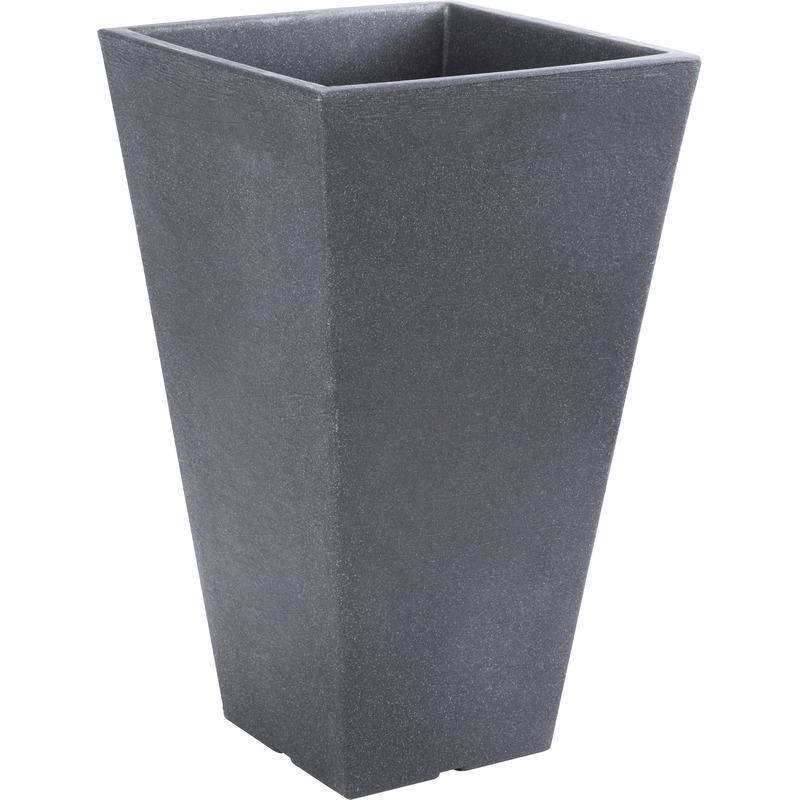 Antraciet grijze bloempotten 55 cm