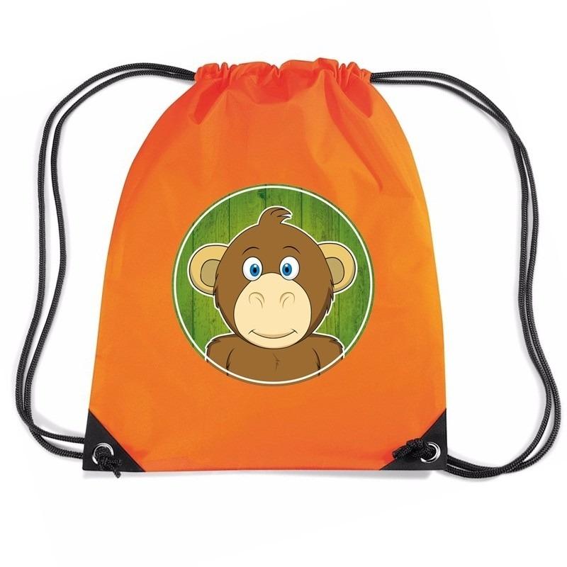 Apen rugtas - gymtas oranje voor kinderen
