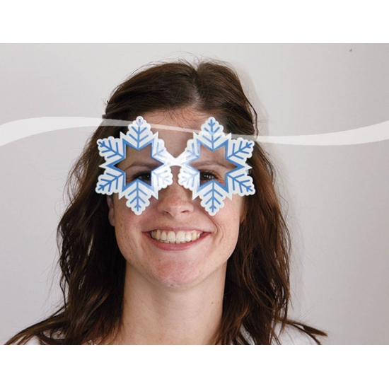 Apres ski sneeuwvlok bril