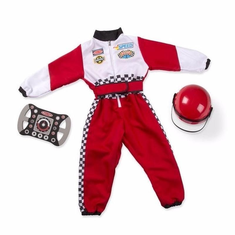 Auto coureur kostuum voor kinderen