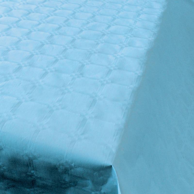 Baby blauw papieren tafellaken/tafelkleed 800 x 118 cm op rol