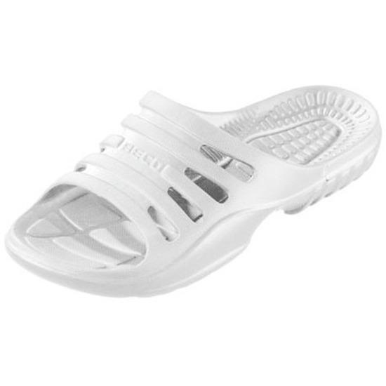 Bad/sauna slippers met voetbed wit heren