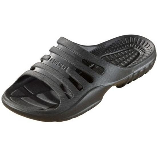 Bad/sauna slippers met voetbed zwart dames