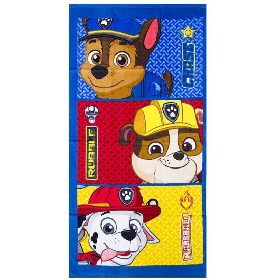 Badlaken Paw Patrol karakters 140 x 70 cm