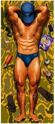 Badlaken Sexy Man 170 x 75 cm