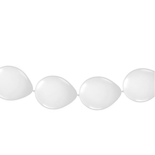 Ballonnen slinger wit 3 meter