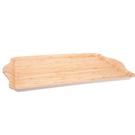 Bamboe dienblad/serveerblad 45 x 31 cm