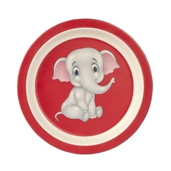Bamboe ontbijtbord olifant voor kinderen 21 cm