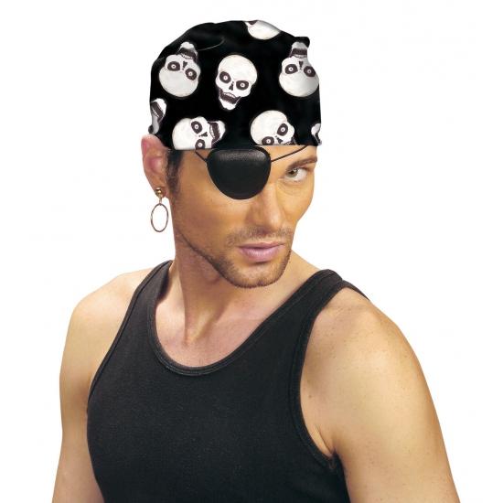 Bandana piraat met doodshoofd print
