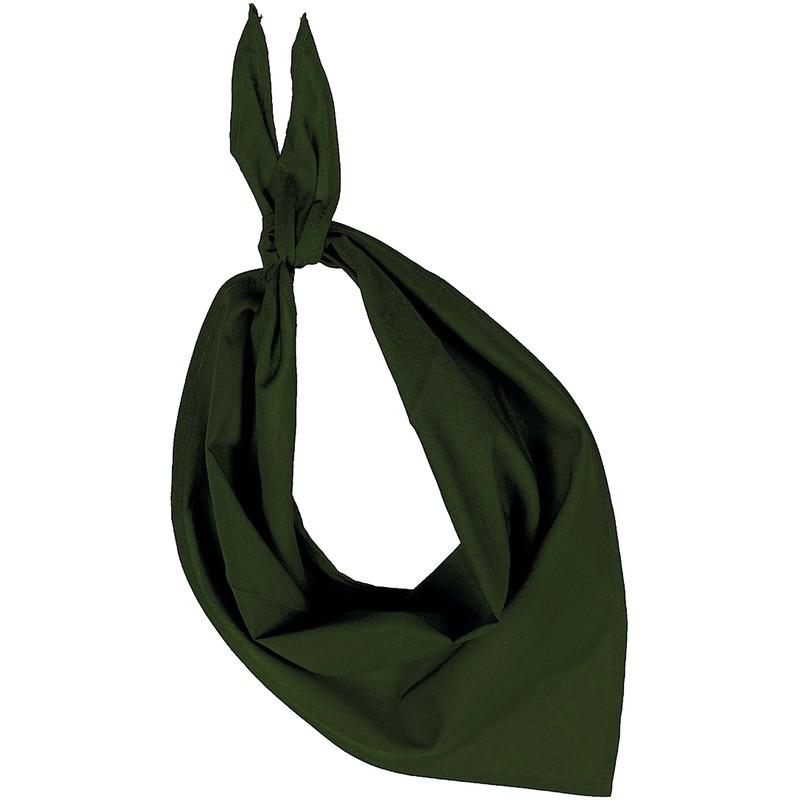 Bandana/zakdoek olijfgroen voor volwassenen