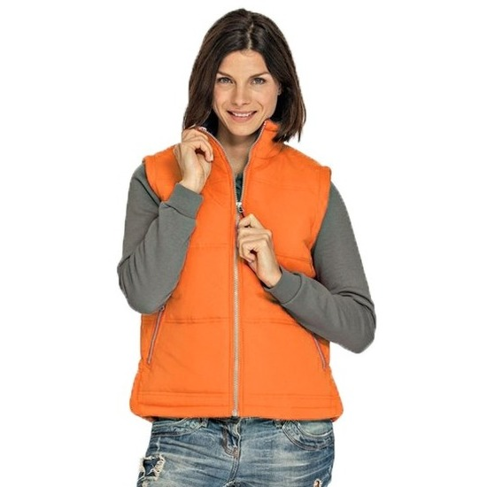 Basic bodywarmer oranje voor dames