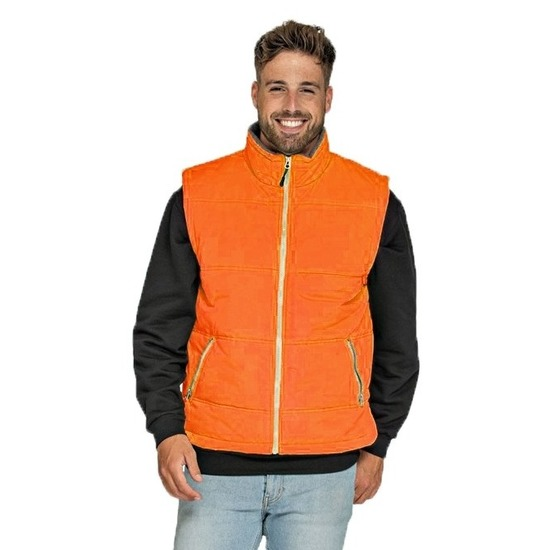 Basic bodywarmer oranje voor heren