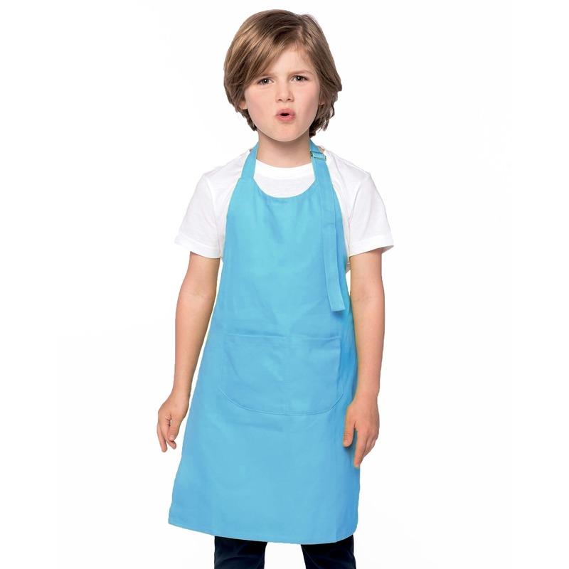 Basic kinderschort aqua blauw
