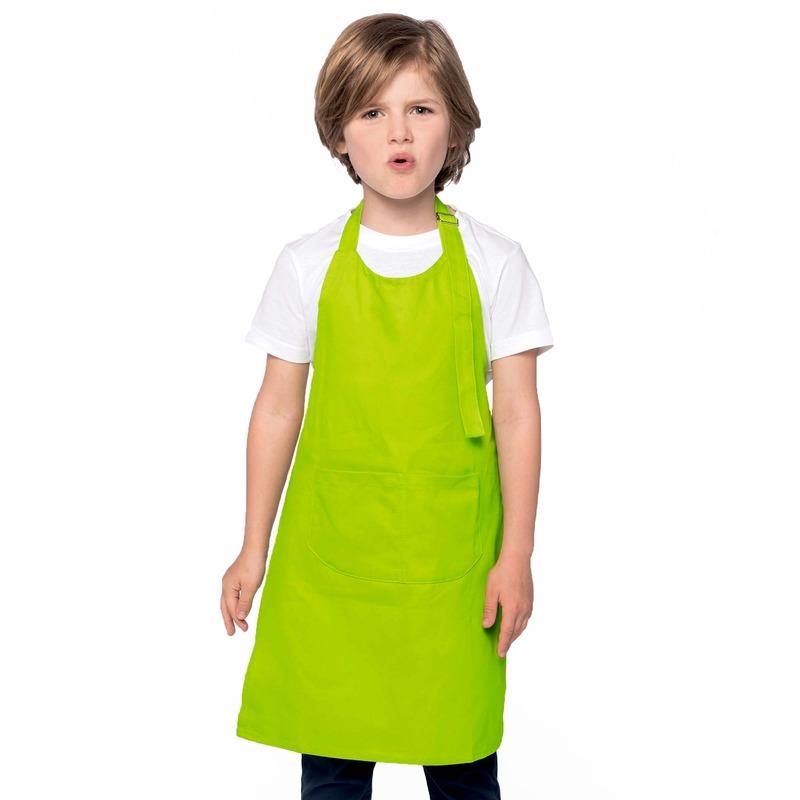 Basic kinderschort lime groen