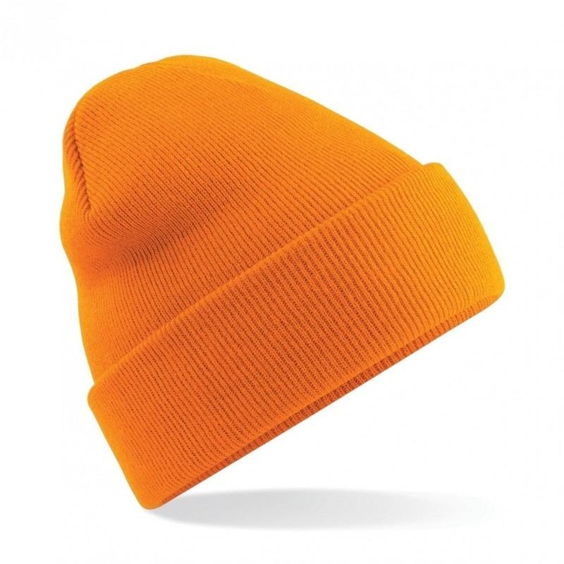 Basic schaatmuts oranje voor volwassenen