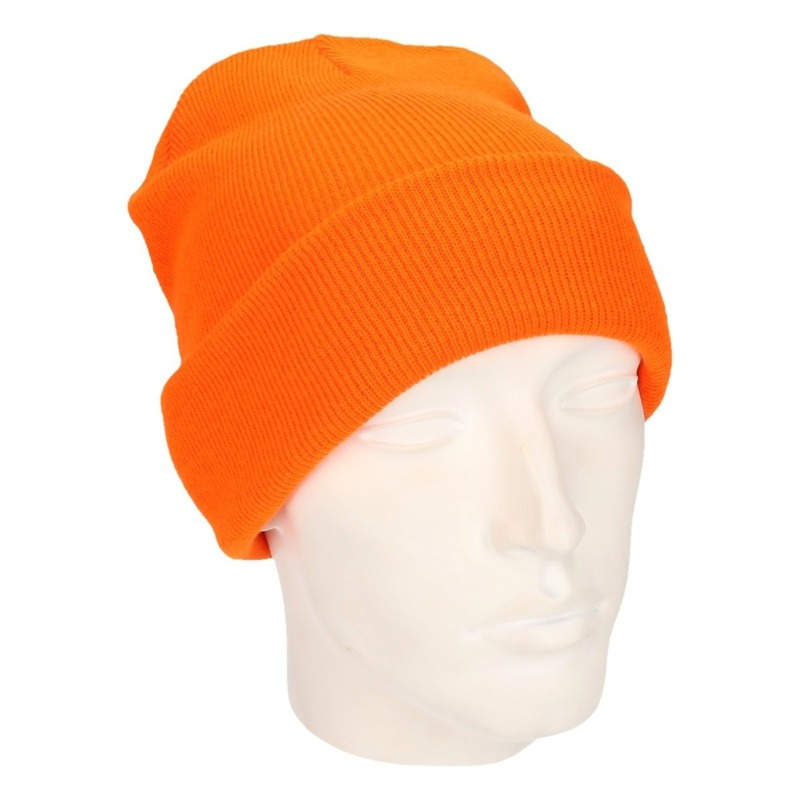Basic winter muts oranje