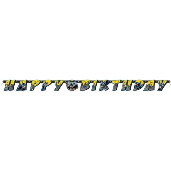 Batman themafeest wenslijn/letterslinger Happy Birthday 180 cm