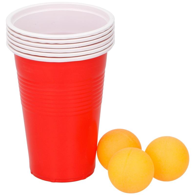 Beer pong drankspel/drinkspel 9 delig