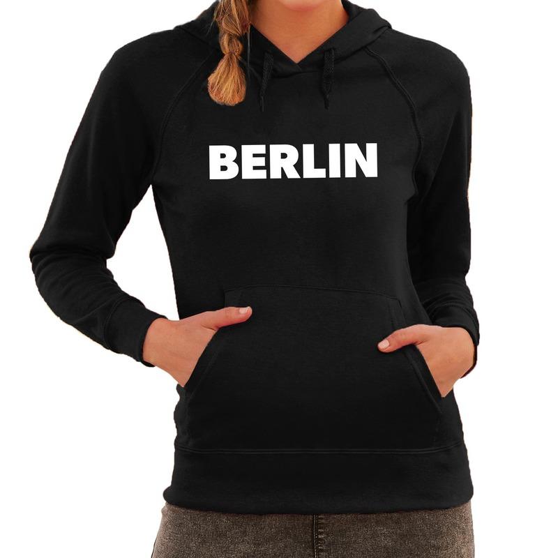 Berlijn/wereldstad hoodie Berlin zwart dames