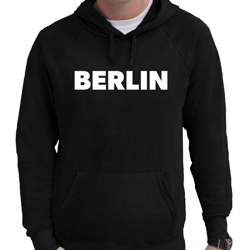Berlin/wereldstad Berlijn hoodie zwart heren