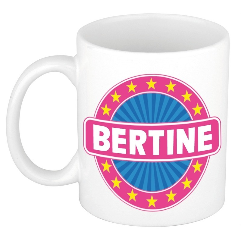 Bertine naam koffie mok - beker 300 ml