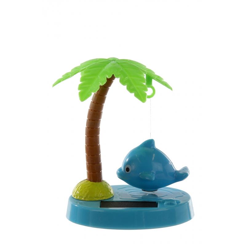 Bewegende dolfijn solar 9 cm