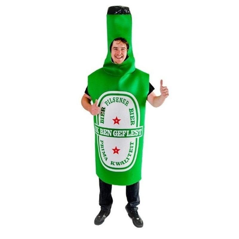 Bierfles kostuum - verkleedpak geflest voor volwassenen