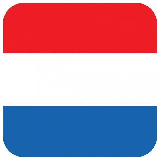 Bierviltjes Nederlandse vlag vierkant 15 st