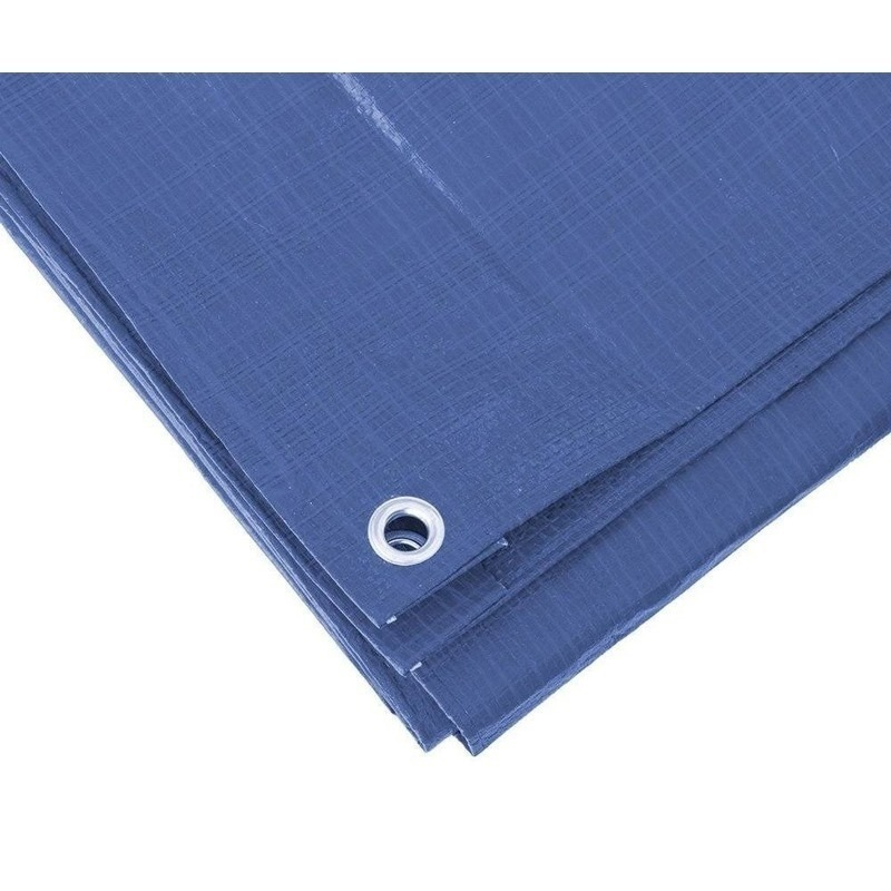Blauw afdekzeil-dekzeil 5 x 6 meter