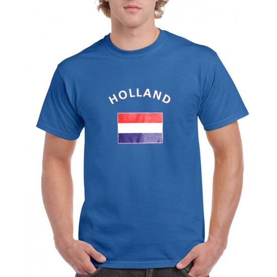 Blauw heren t-shirt Holland