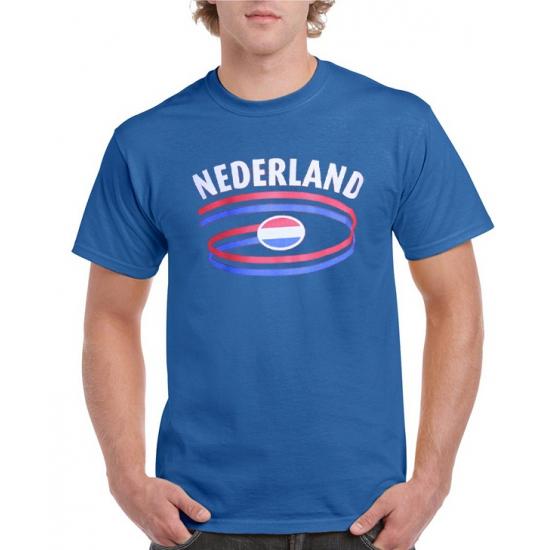 Blauw heren t-shirt Nederland