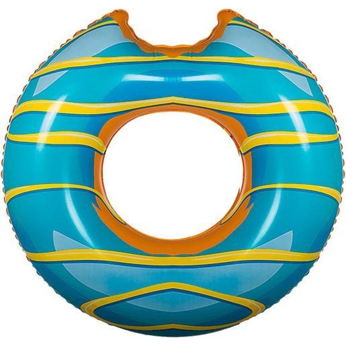 Blauwe donut zwemband 119 cm