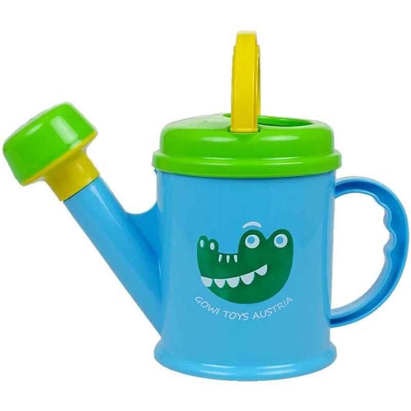 Blauwe/groene kunststof speelgoed gieter met krokodil 1,5 liter voor kinderen