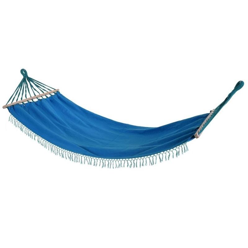 Blauwe hangmat 200 cm