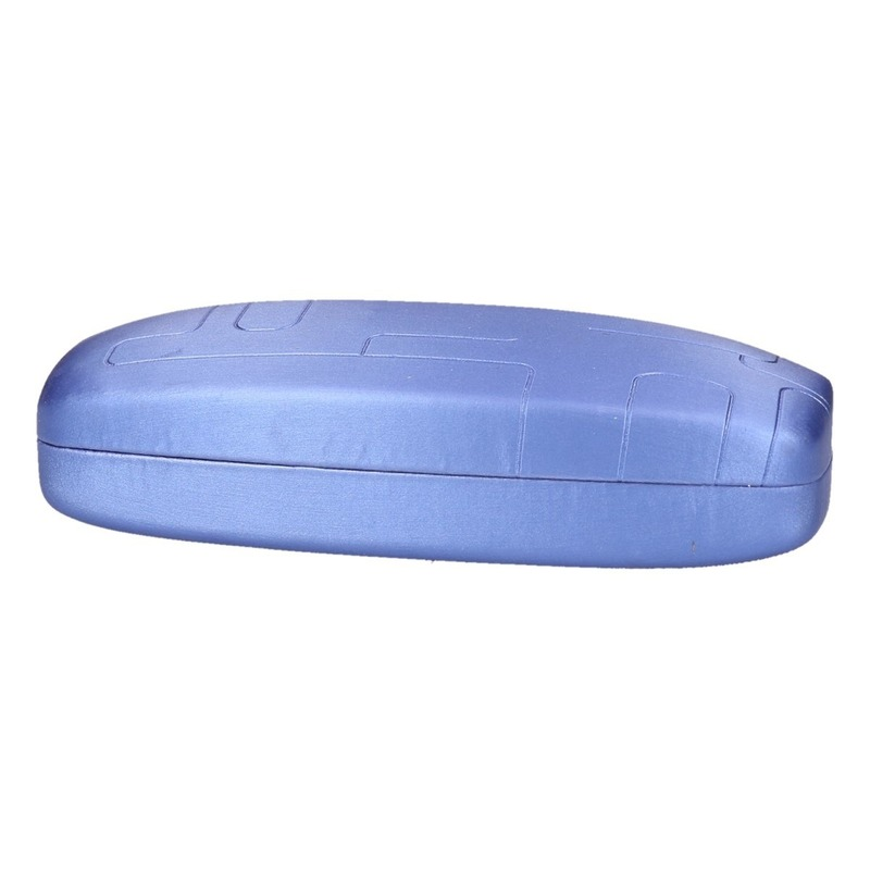Blauwe harde brillenkoker
