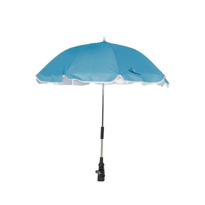 Blauwe parasol voor stoel of kinderwagen 100 cm