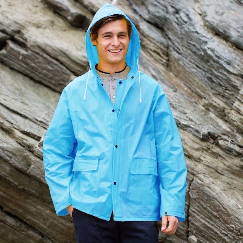Blauwe regenjas Splash voor volwassenen