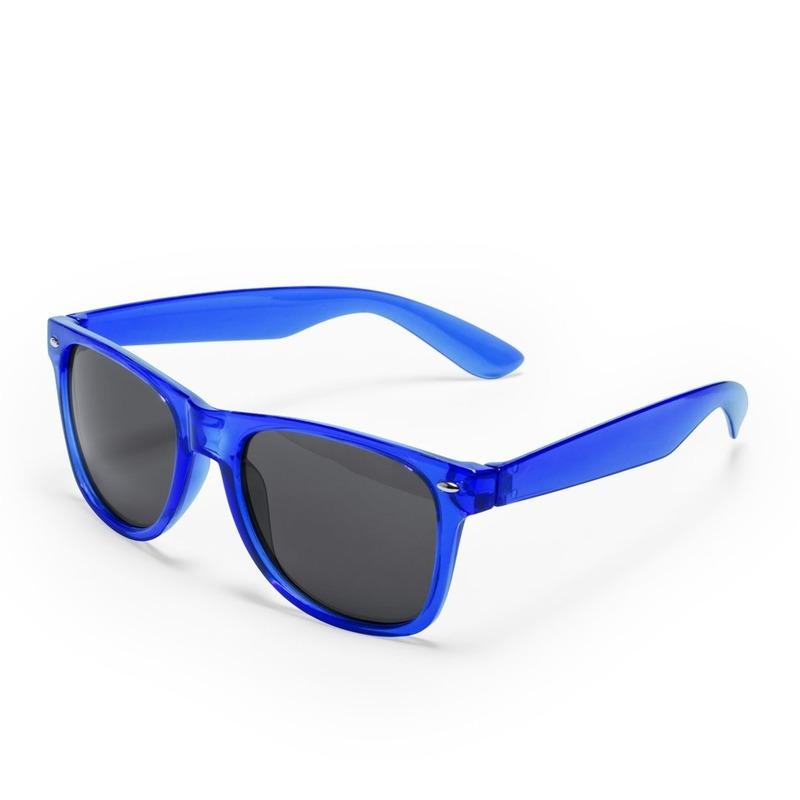 Blauwe retro model zonnebril voor volwassenen