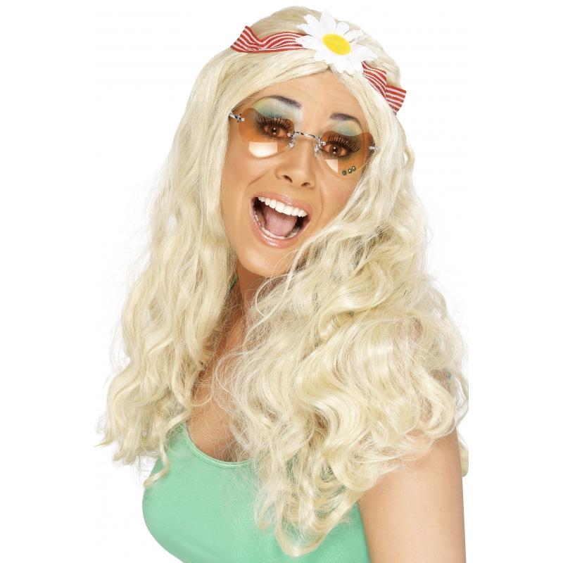 Blonde damespruik sixties
