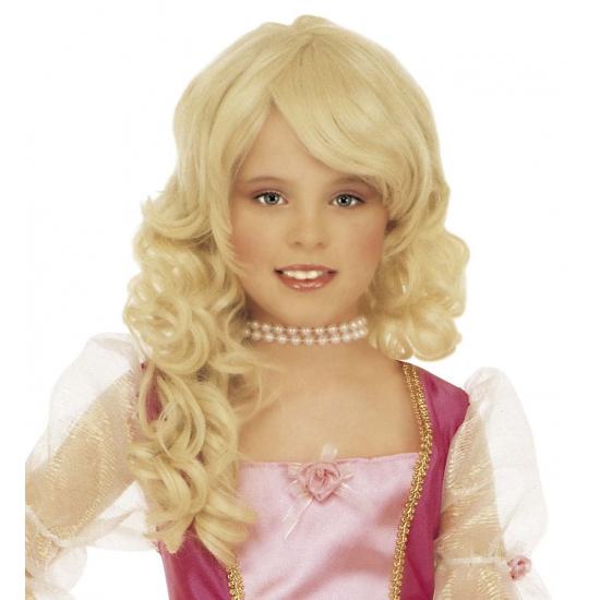 Blonde diva kinderpruik