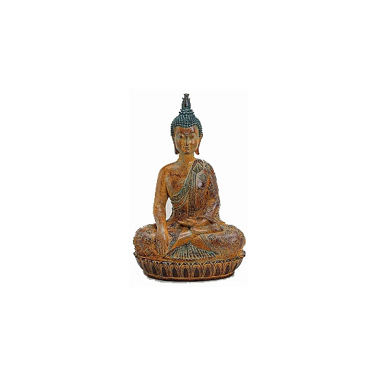 Boeddha beeld bruin 45 cm