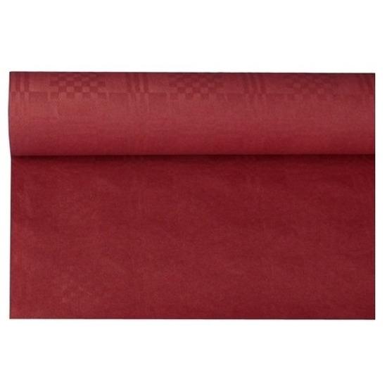 Bordeauxrood papieren tafellaken/tafelkleed 800 x 118 cm op rol