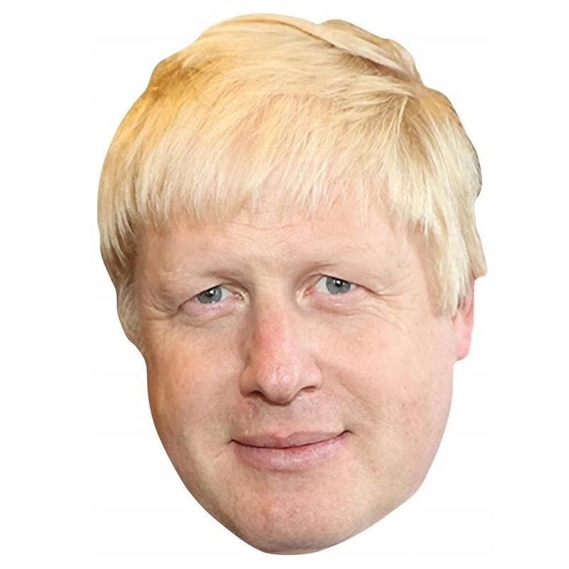 Boris Johnson verkleed masker