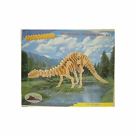 Bouwpakket Apathosaurus dinosaurus hout