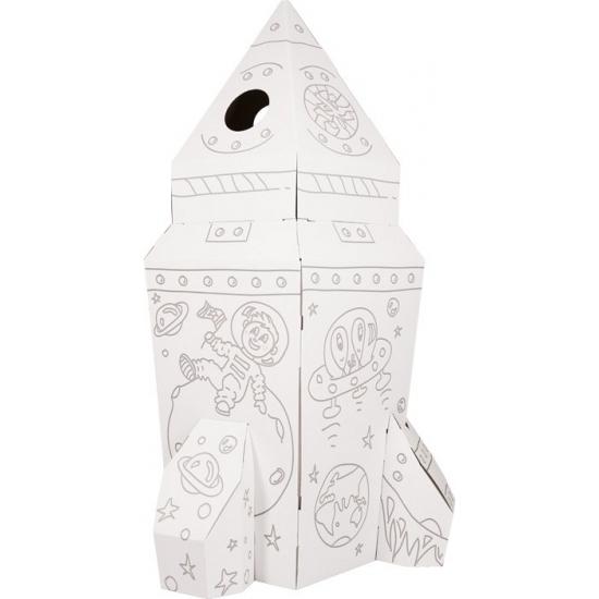 Bouwpakket raket speelhuisje van karton