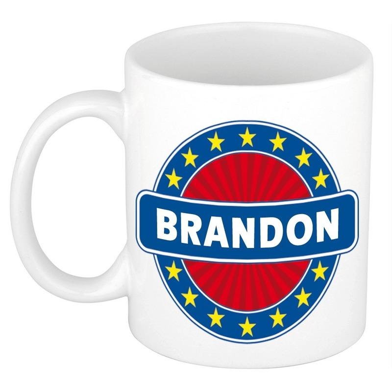 Brandon naam koffie mok - beker 300 ml